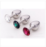 Wholesale New Arrival Sex toys Anal plug Stainless Steel Attractive Butt Plug Jewelry Jeweled Anal Plug Rosebud Anal Jewelry Large Medium Small Size