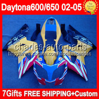 7gifts For Triumph Daytona 650 yellow red blue 02- 05 Daytona...