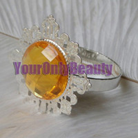 Cheap Free DHL For Large Quantity and 50% off, 50pcs Gold Gem Napkin Rings Wedding Favor Supplies