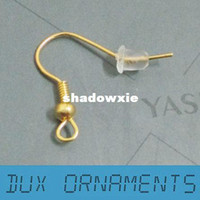 Wholesale K Gold Plated Surgical Steel Hypo Allergenic Earring Hooks Earring Findings Nickel Free