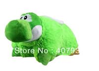 Teddy Bear White Plush yoshi Pillow 30pcs 18 inch Super Mario green Bros animals stuffed useful Plush toys Pillows children