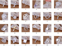 Wholesale Top quality jewelry styles free Select sterling silver pendants fit DIY necklace bracelet