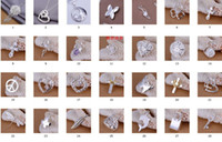 heart charm - Top quality jewelry styles free Select sterling silver pendants fit DIY necklace bracelet