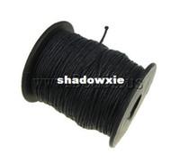 al por mayor cordón negro 1mm-Al por mayor - Resultados de la joyería del ENVÍO de la cuerda cera del algodón, de color negro, de 1 mm, longitud: 80, vendido por PC