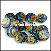 bead stringing patterns - strings Multicolor Loose Flat Shell Beads With Circles Patterns Fit Jewelry Making mm