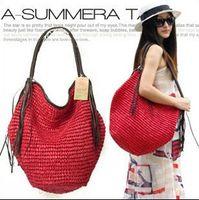 beach items - Channel items handbags spanish girls vintage straw bag fashion women shoulder bags large fringed beach