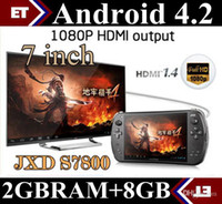 Wholesale DHL Android JXD S7800B S7800 game console RK3188 Quad core GB RAM GB ROM quot new IPS game player tablet pc JY07