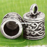 Cheap Wholesale - 40pcs lot Tibetan Silver Crafted Decoration End Caps For 5mm Leather Cords CA642