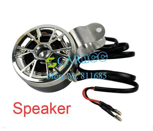 Wholesale - car 12V AUDIO SOUND SYSTEM AUX INPUT Motorcycle/ATV FM Radio MP3 STEREO SPEAKER Set Waterproof 6632