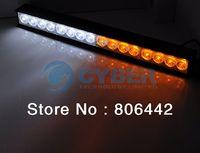 Wholesale New White Amber V LED Strobe Light Car Flashing Emergency Warning Lights Bar