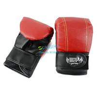 Wholesale 2014 New Good Quality Hot Sell Professional Sandbag Gloves Half Thumb Sanda Fight Boxing Gloves