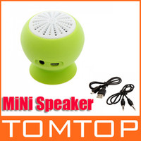 Wholesale Portable Mini Stereo Bluetooth Speaker Subwoofer Bass Sound Box for iPhone iPod iPad Handsfree Mic Car Suction Cup V511GR