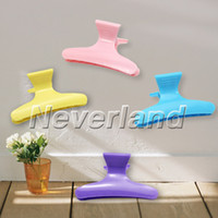 Wholesale Neverland Colorful Hairdressing Tool Butterfly Hair Claw Salon Section Clip Clamps