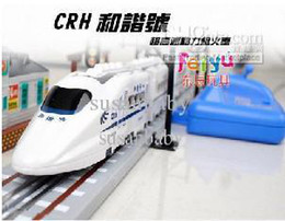 Electric toy orbit train, electric toys train, electric rail CRH harmonious number, remote control CRH bullet train rail electric toy car