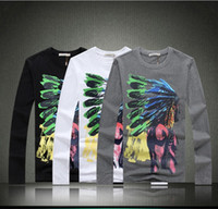 Wholesale 2014 Spring New Men s Stylish T shirts Special Indian Printing HIgh quality O neck T shirts M XL