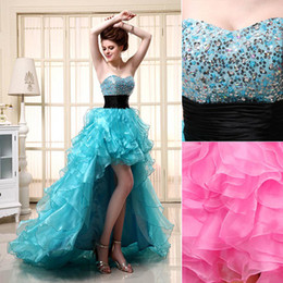 Wholesale 2014 New Arrival In Stock Dresses Prom Evening Gown Homecoming Cocktail Dresses With Sequins Beads Sweetheart Ruffles Lace up Back SD062