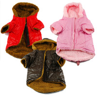 Wholesale New Arrival Padded Dog Clothes Fur Lined Dog Coat Puffer Hoodie Pet Winter Coat Puppy Jacket