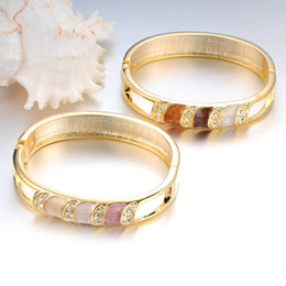 Gold bracelet women's 18K gold plated bracelet open wide fashion new retro South Korea jewelry simple