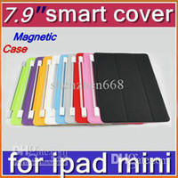 Cheap Cheap Hot DHL 30pcs Smart Magnetic Cover Case for Apple iPad mini 7.9''PC Stander Sleep Wake UP PTA-A