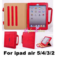9.7'' apple hand bag - Luxury Handle Bag Portable Carry Pouch Leather Case Cover Briefcase With Stand For ipad air ipad mini Tablet PC Hand Bag Case