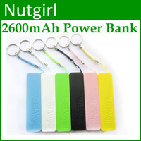 6 colors Universal Direct Chargers Perfume 2600mAh Power Bank mini USB Portable External Battery Charger For Samsung Galaxy S4 S3 I9500 Note 3 Iphone 5 5C 5S 4S HTC LG 100PCS