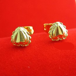 For a long time does not fade gold earrings and heart-shaped gilded gold 999 gold jewelry simulation wedding gifts