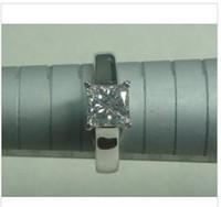 Wholesale 1 CT PRINCESS CUT D VS1 DIAMOND SOLITAIRE ENGAGEMENT RING K WHITE GOLD