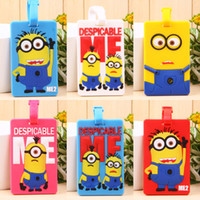 Wholesale Hot New Arrival New Designs Mixed Despicable me minions luggage tag luggage card Promotion amp Commerial Gifts HK