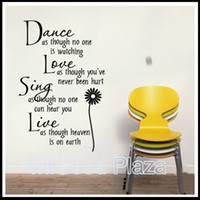 Wholesale Mix Order Wall Quote Decals Vinyl Wall Art Stickers Room Wall Decor Kids Wall Stickers Words Saying Stickers cm