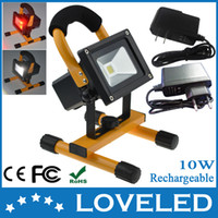 Wholesale Hot Selling CE RoHS W Portable Rechargeable Emergency COB LED Flood Light Lamp Red and White Color Free Fedex