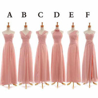 Whole Sale Bridesmaid Dresses Cheap Girls Dresses Dusty Pink...