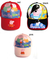 Wholesale halloween christmas Children s Accessories Styles peppa pig Children s Caps Sun hat
