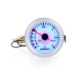 Wholesale Turbo Boost Vacuum Press Gauge Meter for Auto Car quot mm BAR Blue LED Light Car Tool K1067