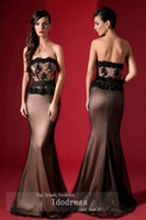 Cheap 2014 Fashion Peplum Evening Dresses Mermaid Strapless Applique Beading Belt Satin Floor Length yk8R480