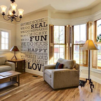 Wholesale S5Q Real Fun Love House Words Quote Removable Wall Decal Stickers Art Home Decor AAACAQ
