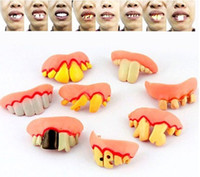 Big Kids false teeth - False teeth andom desgin April Fool s Day Shock toys halloween props style false teeth