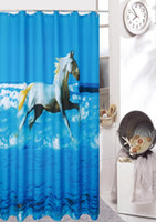 Wholesale Bath Shower Curtain Bathroom curtain Horse x180cm bath shower fabric curtain bath curtain quality curtain printing screen