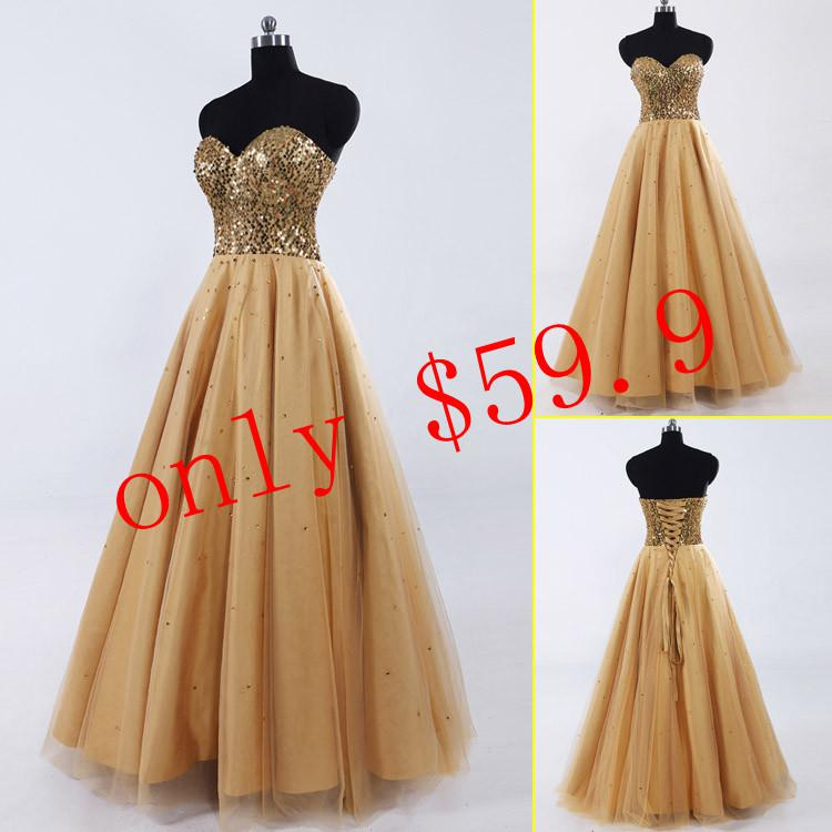 Long Gold Prom Dresses Cheap - Eligent Prom Dresses