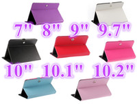 "Folding Folio Case 7'' Universal Factory Price 10 Colors Tablet Case Universal PU Leather Case Cover Without Keyboard Stand for 7"" 8"" 9"" 9.7"" 10.1"" 10 Inch Tablet PC Case"