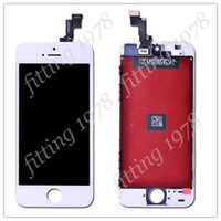 Best 10 Pcs lot OEM LCD Display With Screen Touch Digitizer For iPhone 5S Complete Screen Replacement Repair Parts White & Black Color