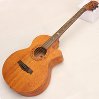 Wholesale Wholesalel New Acoustic Guitar Auditorium Guitar With Top Mahogany Fingerboard Rosewood Pop Edition Cutway Guitar