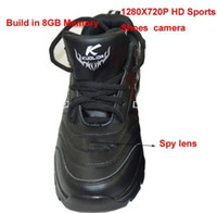 Wholesale 1280x720P GB HD sports shoes spy Hidden Camera DVR Recorder with Remote