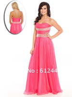 Cheap 2014 Wow Prom Strapless Floor Length Handwork Beaded Crystal Prom Dress Formal Evening Dress