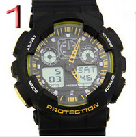 Cheap New Arrival Sports Shock Watch Digital for Men Jelly Wrisstwatch Double Led Show Movement Waterproof Wrist Fashion Clock