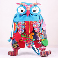 Wholesale New children bag backpack owl fashion baby kids school bags China s national characteristics