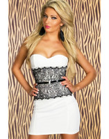 Wholesale Women s Sexy Clubwear Fashion Tube Dress Red White Dress CB9517