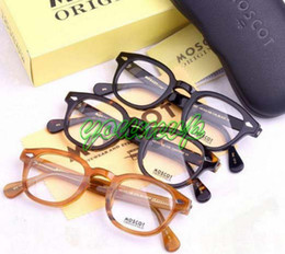 Wholesale Blonde Black and Tortoiseshell Eyeglass Frame Moscot glasses frame Moscot Johnny Depp sz S M L