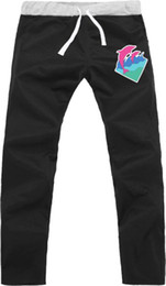 Wholesale new sale fashion hiphop clothes pink dolphin printed casual sweatpants Sports Trousers loose hiphop sweatpants color