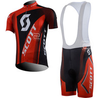 Short Breathable Men Skate Tour de France 2013 SCOTT team black and red jersey strap short cycling jersey suit-Bib Short Pants