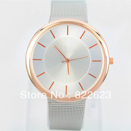 Wholesale A piece Bracelet Wristwatch Stainless steel brand lover watch Best gift rose gold silver Man women dress watches